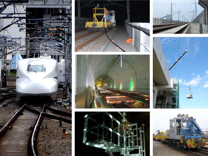 株式会社kansai(カンサイ) 鉄道電気工事の様子(JR新幹線)